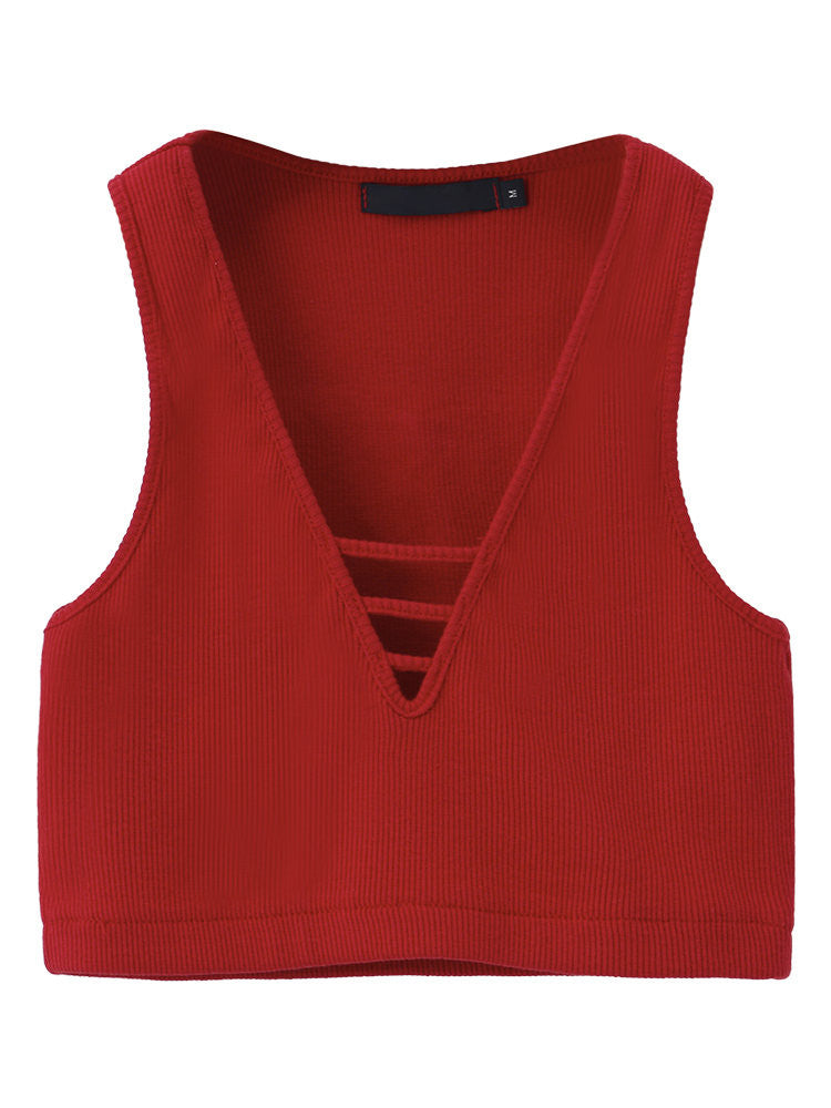 Emal Sleeveless Pure Color Tank Top