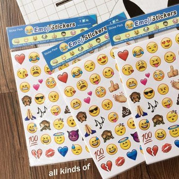 4Pcs Apple Emoji Expression Facial Stickers Model Toys Smiling Face Decor