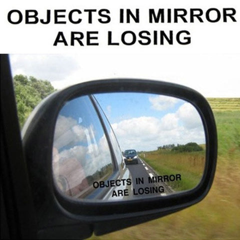 DIY Sticker Objects In Mirror Are Losing Funny Black Sticker