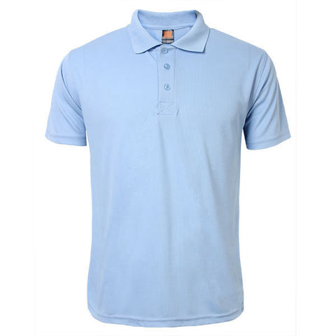 Mens Solid Color Short Sleeves Polo T-shirt