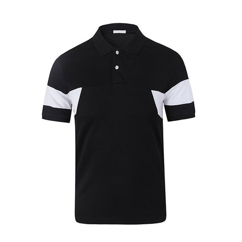 Mens Stand Collar Slim Fit Polo T-Shirt