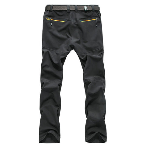 Mens Outdoor Durable Soft Shell Water-repellent Quick-Dry Breathable Pants