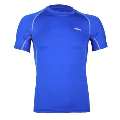 Mens Outdoor Traning Sport T-shirt Bottoming Breathable Elastic Quick-drying Sportwear
