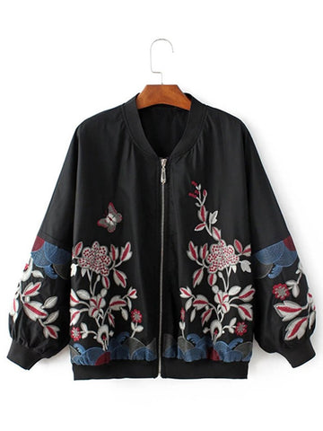 Bina Floral Embroidery Jacket