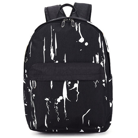 Giasone Black White Printing Shoulder Bags For Men Women