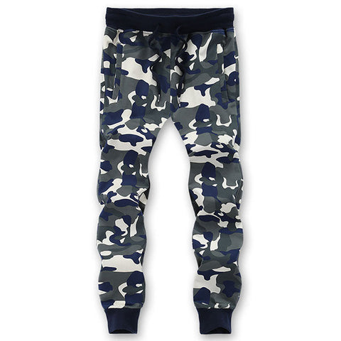 Camo Printing Casual Sweatpants Relaxed Fit Drawstring Spring Fall Cotton Sport Pants