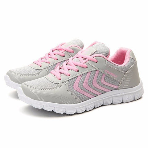 Color Match Breathable Lace Up Casual Platform Sport Running Shoes Sneakers