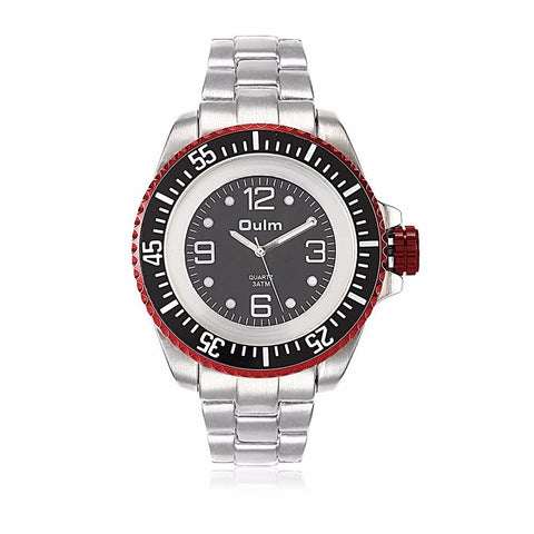 OULM Charming Watch Casual Stainless Steel Round Men's Watch