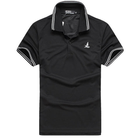 Mens Quick Dry Short Sleeved Polo Shirts