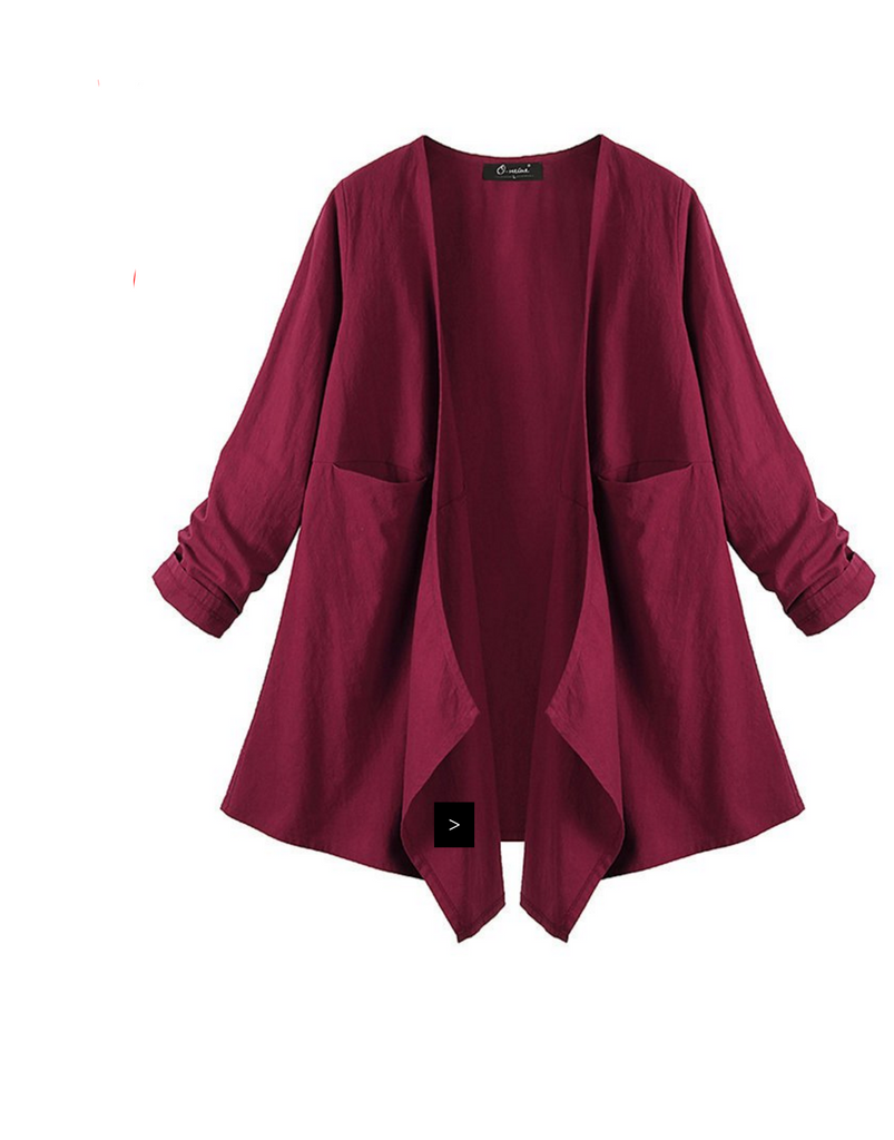 Women Loose Long Sleeve Irregular Cardigan