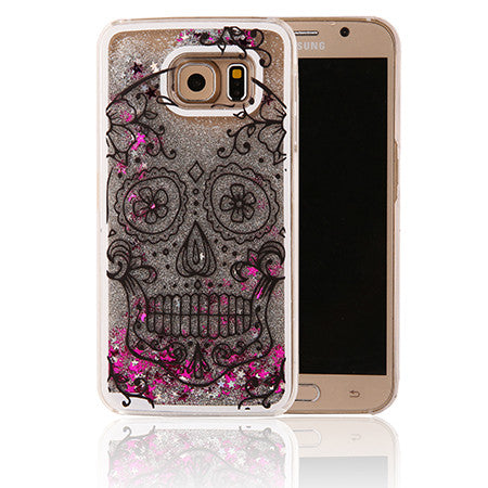 3D Bling liquid Hard Cover case for Samsung GalaxyS6 ,S6 Edge & S7, S7 Edge