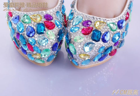The Multi Color Glittering Shoe