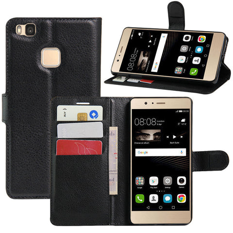 Magnetic Wallet Leather Flip Cover Stand Case for Huawei P8
