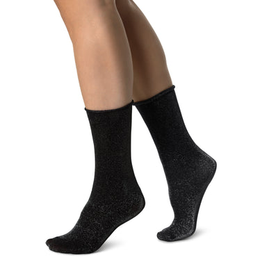Swedish Stockings Lisa Lurex Socks Silver
