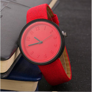 JOOM explosion models denim belt ladies watch printing personality watch factory direct fashion watches