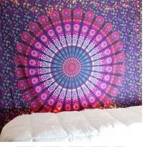 Printed mandala home tapestry wall hanging wall decoration beach towel beach blanket