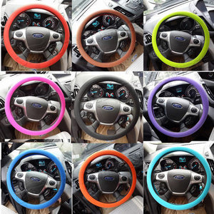 Non-slip car silicone steering wheel cover GM silicone steering wheel handle set Steering wheel silicone cover