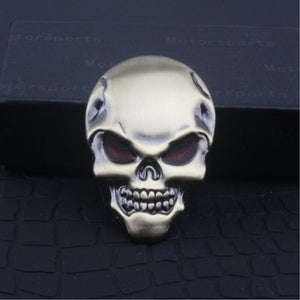 Personality Harley skull demon modified metal body stickers