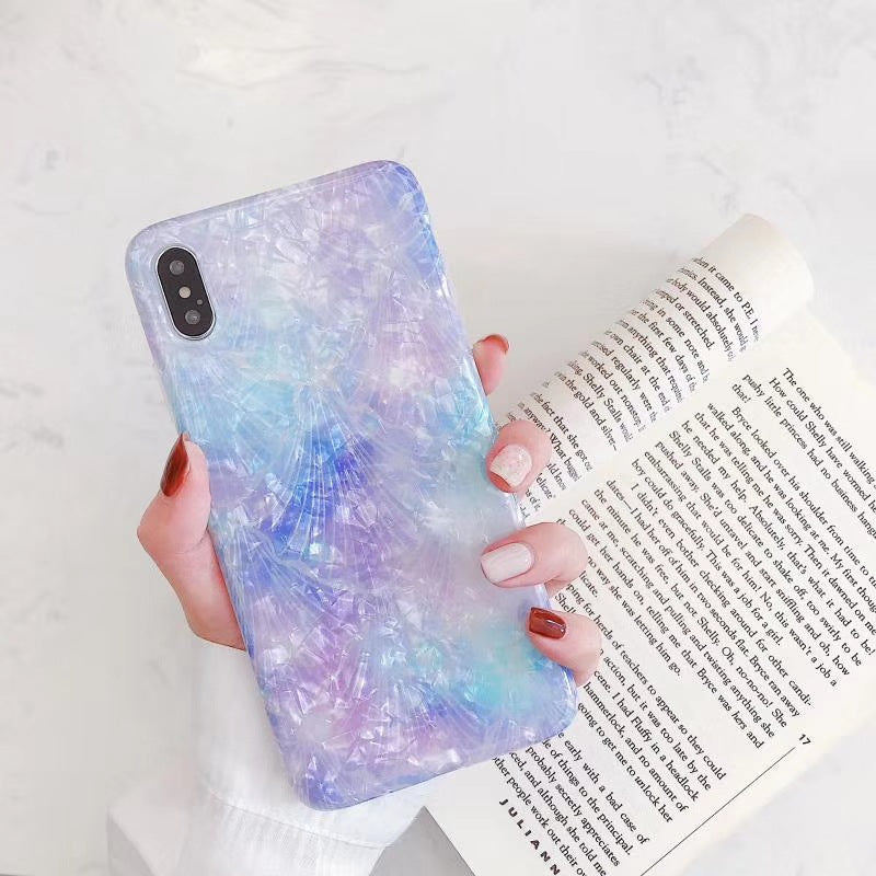 Purple Bright Shell Mobile Phone Case