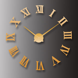 European mirror wall clock creative clock