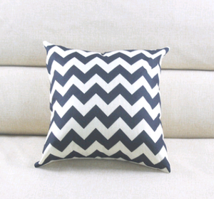 Linen striped hug pillowcase wave pattern cushion bag
