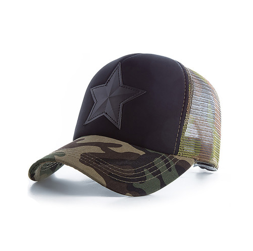 Pentagram Baseball Cap Camouflage Sun Hat Casual Hat Sun Hat Korean Men and Women Cap