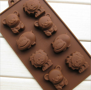 Silicone Cake Mold Hippo Lion Bear Shape Cookie Moulds Fondant, Jelly, Chocolate, Soap ,Cake Decorating DIY Kitchenware