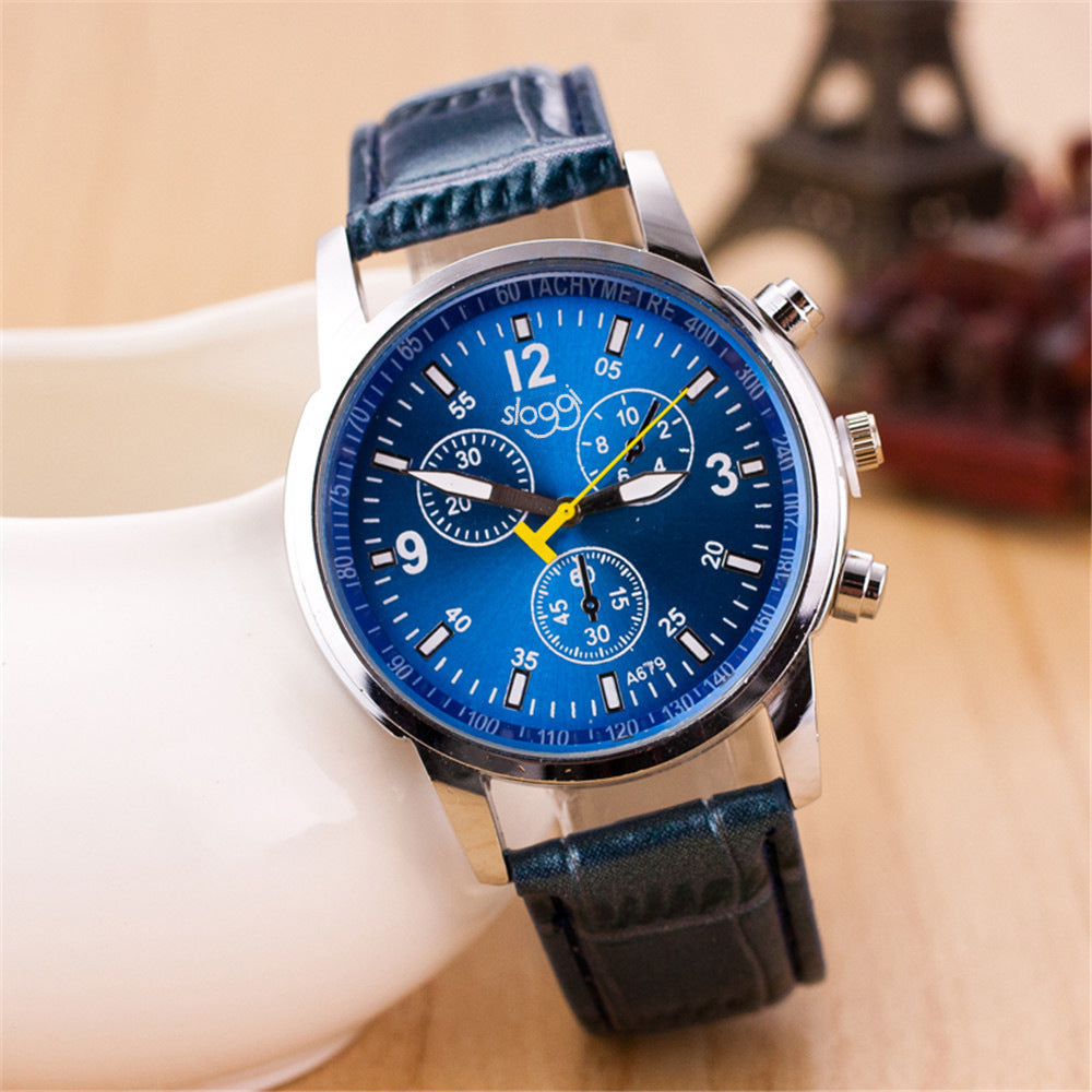 Three-eye casual male and female students quartz watch