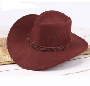 Summer men's sun hat, western cowboy hat, riding hat, camping, outdoor hat, imitation hat, hat.