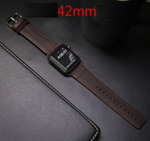 Watch with leather   strap retro crazy horse pattern