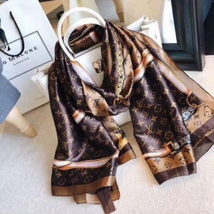 Silk scarf for Women and Men Hot Designer Hemming Long Scarves Shawls Wrap With Tag 180x90Cm Shawls Collar Headbands