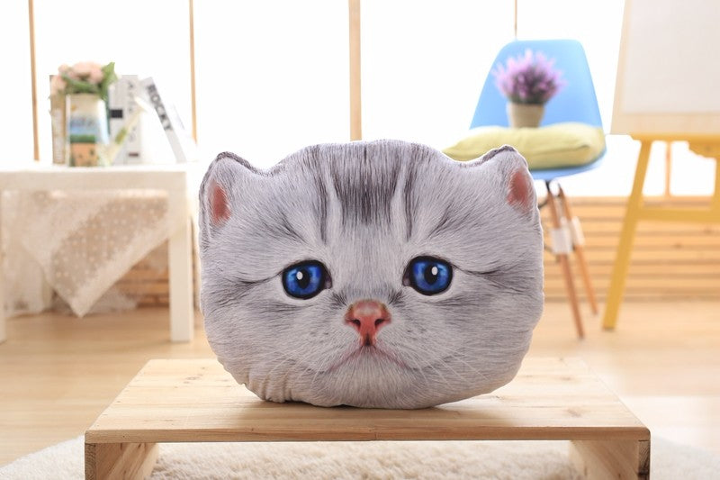 40cm&50cm Cat Pillow Car Cushion Creative Stuffed Cute Cat shape Nap pillow Cute seat cushion Plush Toys Animal Pillow
