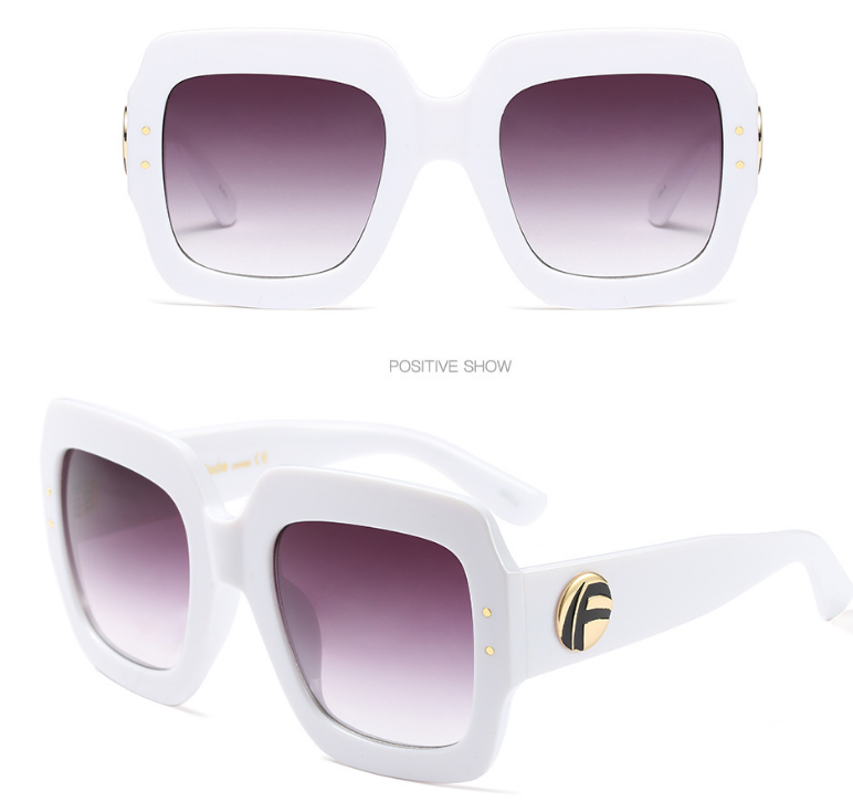 97394 Europe and the United States new quality fashion three-color frame sunglasses custom luxury color crystal tide cool sunglasses