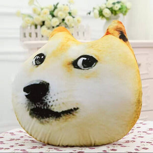 Manufacturers selling God annoying dog 3D creative head pillow cushion Ha J Chiesa Moyer dog wholesale custom hand warmer