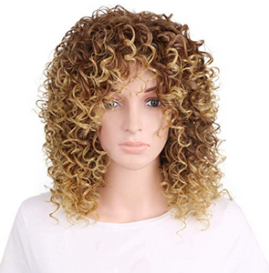 Fashionable chemical short curly hair wig