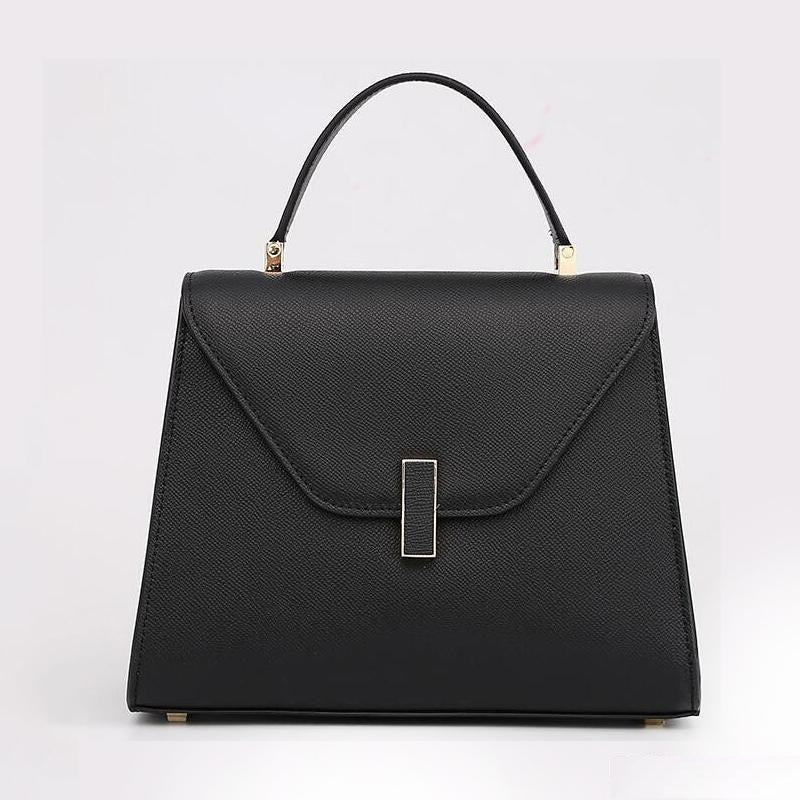 Classic Elegance Leather Purse with Top Handle