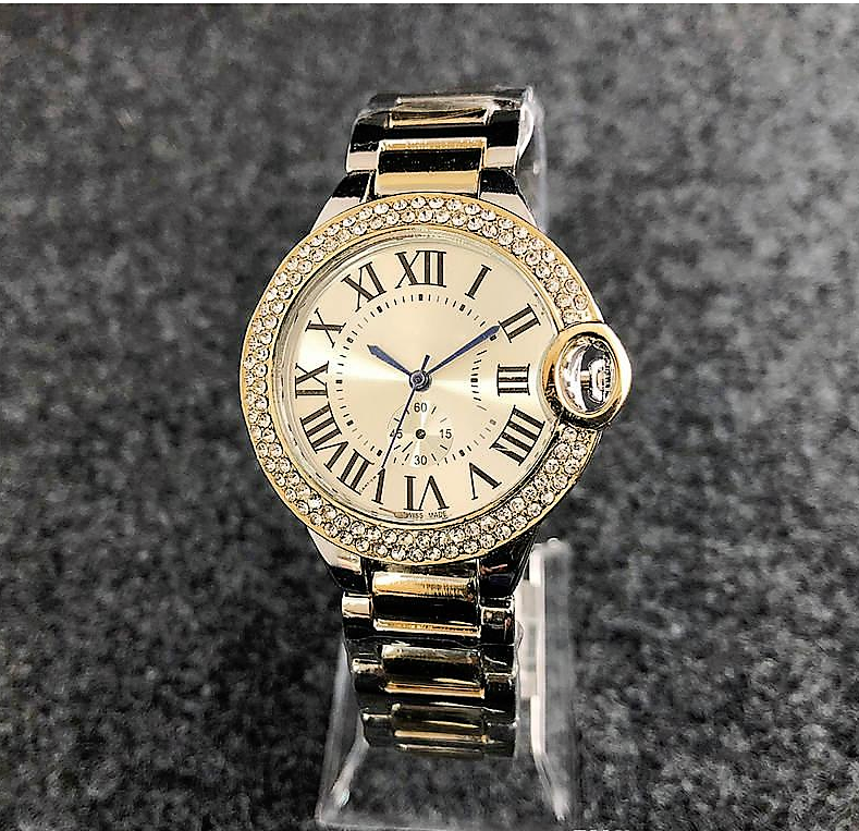 Chic Gemstone Embellished Classic Watch
