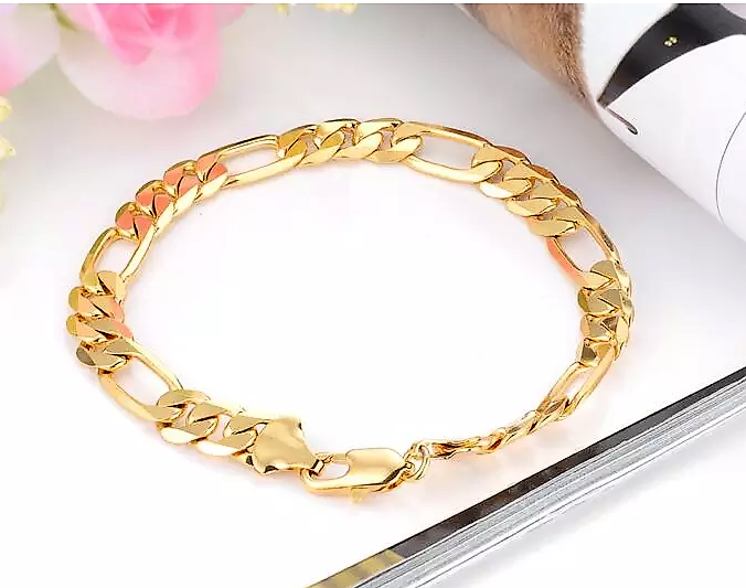 Elegant Unisex Gold Plated Tennis Bracelet- FREE PLUS SHIPPING