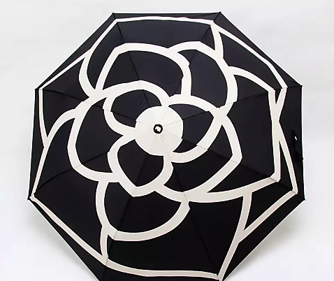 Black and White Stencil Umbrella