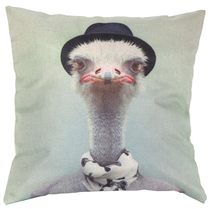 Ostrich Aniaml pattern sofa bed home decoration pillowcase cushion cover decorative cushion cover