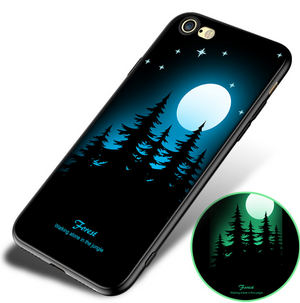 Mobile phone case, all-inclusive 8plus luminous soft shell