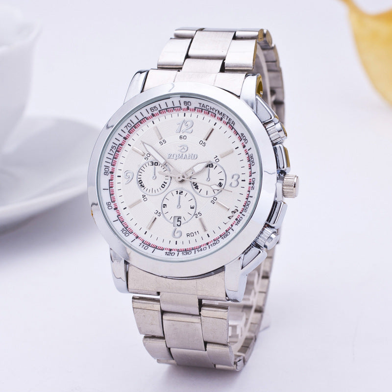 Diamond-studded mesh plate Personality scale High-grade steel belt sports and leisure watch