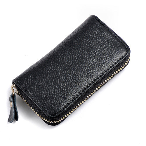 Leather men's card holder car key case