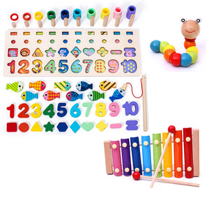 Children 3D Alphabet Number Puzzle Baby Colorful Geometric Digital Letter Educational Toy