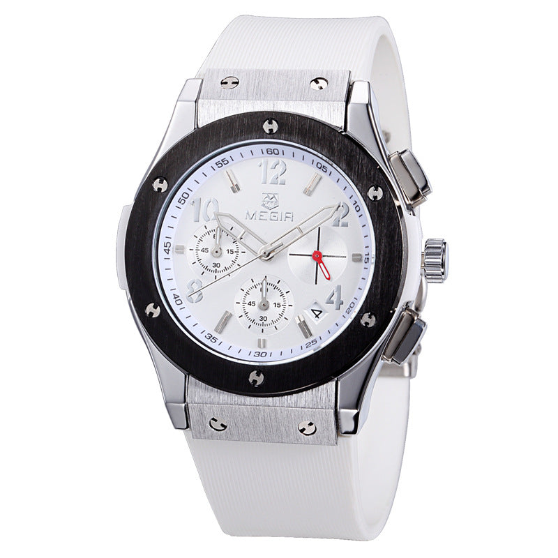 Factory direct sales meike'er MEGIR new multi-functional waterproof watch 3002 silicone watch