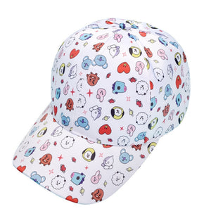 Kpop Bangtan Boys Cartoon CHIMMY COOKY RJ KOYA SHOOKY TATA MANG Print Baseball Cap Summer Unisex K Pop Hats Korean Style