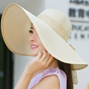 Summer Korean version of the tide hat female folding summer beach hat sun hat