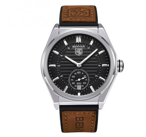 Men's business watch leather belt watch