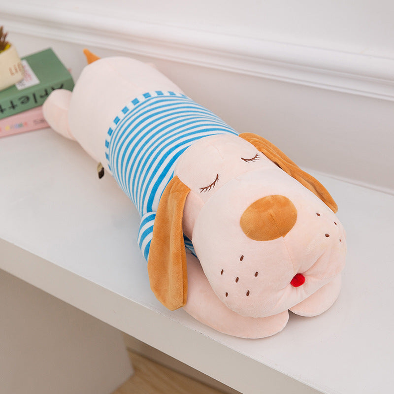 Manufacturers selling large plush toy dog Papa cute dog lying on the pillow girls birthday gift wholesale
