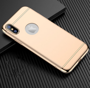 Three-stage electroplating PC shell all-inclusive frosted mobile phone case for IPHONE